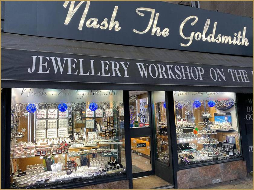 Visit Nash The Goldsmith store to discover a beautiful collections of gold & silver jewellery and fashion watches